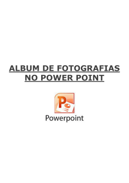 Álbum de fotografias no Power Point