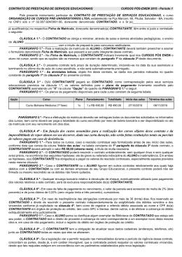 Contrato Período 1 - Colégio e Pré