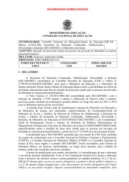 Parecer CNE/CEB nº 5/2015, aprovado em 10 de junho de 2015