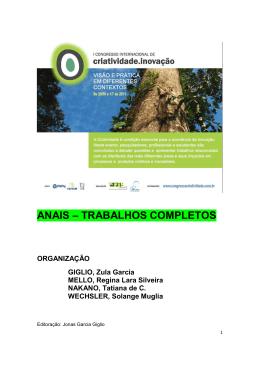 ANAIS – TRABALHOS COMPLETOS