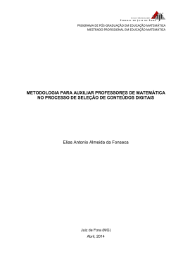 METODOLOGIA PARA AUXILIAR PROFESSORES DE