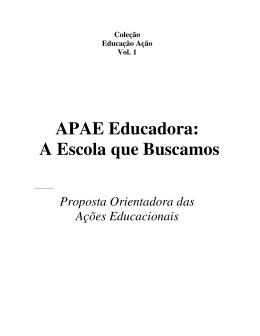 APAE Educadora: A Escola que Buscamos