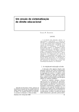 Um ensaio de sistematização do direito educacional