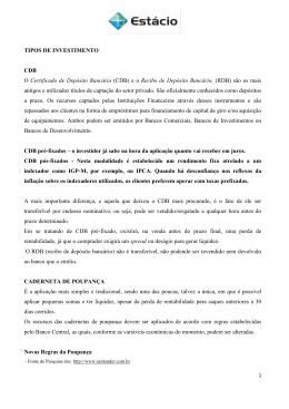 (CDB) e o Recibo de Depósito Bancário