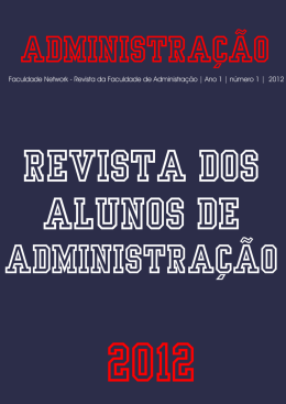 ADMINISTRAÇÃO – 2012- Revista dos alunos