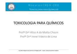TOXICOLOGIA PARA QUÍMICOS
