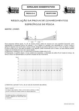 resolução da prova de conhecimentos específicos de física
