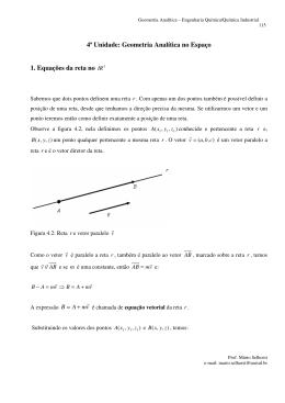 Geometria Analítica no Espaço - Curso de Engenharia Química