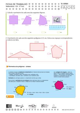 1- Calcula o perímetro de cada uma das seguintes figuras. 2