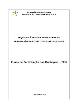 Fundo de Participação dos Municípios – FPM