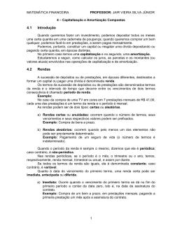Rendas ou Anuidades - Professor Júnior Vieira