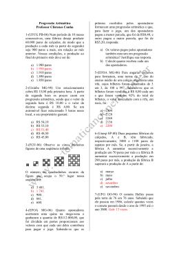 Progressão Aritmética Professor Clístenes Cunha 1