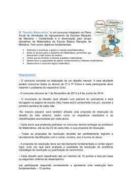 Regulamento - Agrupamento Escolas Marquês de Marialva