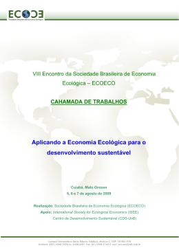 VIII Encontro da Sociedade Brasileira de Economia Ecolgica