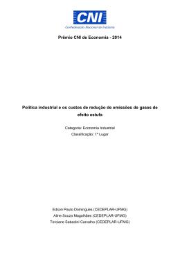 Prêmio CNI de Economia - 2014 Política