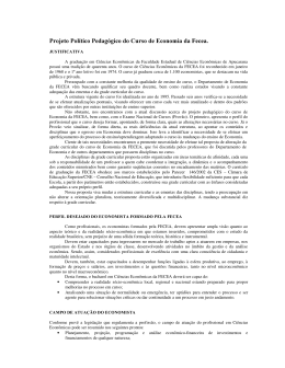 Projeto Político Pedagógico do Curso de Economia da Fecea.