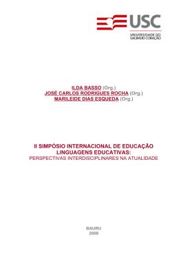 II SIMPÓSIO INTERNACIONAL DE EDUCAÇÃO
