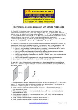 Movimento de uma carga em um campo magnético