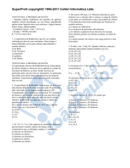 Exercícios - Química - 1º e 2º Ano - JPH e JPN