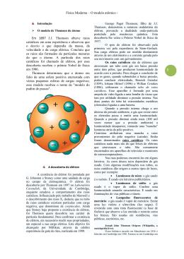 Física Moderna – O modelo atômico