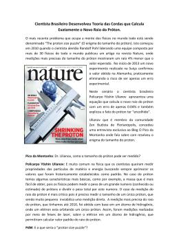 Cientista Brasileiro Desenvolveu Teoria das Cordas que