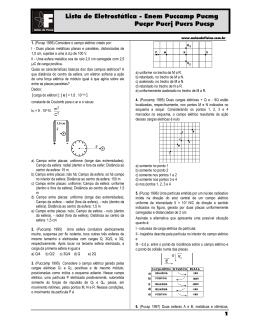 Lista de Eletrostática sta de Eletrostática - Enem