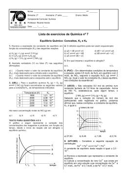 Lista de exercícios de Química nº 7