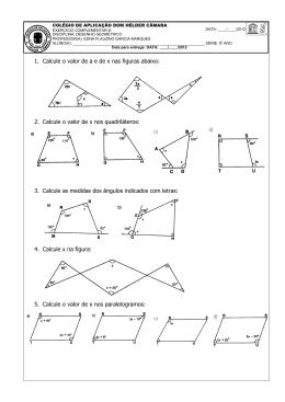 2. Calcule o valor de x nos quadriláteros