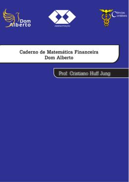 Caderno de Matemática Financeira Dom Alberto