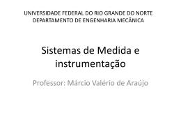Sistemas de Medida e instrumentação