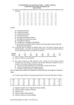 Lista de Exercícios de Revisão para VS