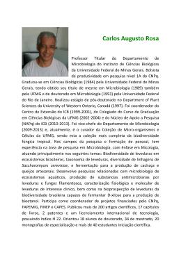 Carlos Augusto Rosa - Instituto de Ciências Biológicas da UFMG