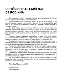 histórico famílias de rocinha- 2007