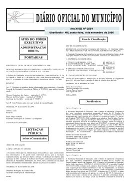Edição 2554 - Prefeitura Municipal de Uberlândia
