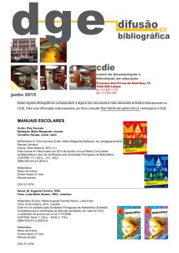 Difusão Bibliográfica nº 57 - junho - Direção