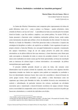 Poderes, Instituições e sociedade na Amazônia portuguesa