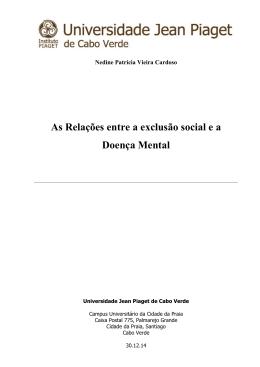 Nedine Cardoso Mono final  - Universidade Jean Piaget de