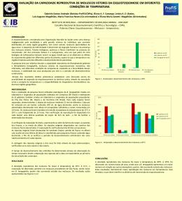 avaliação da capacidade reprodutiva de moluscos - PRP