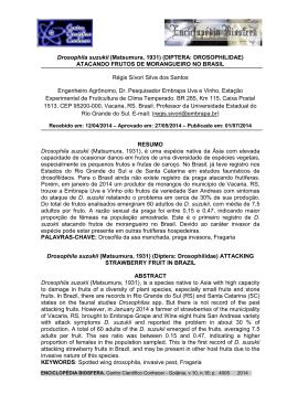 Drosophila suzukii - Centro Científico Conhecer