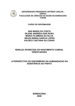 ANA MARIA DA COSTA DILENE ANDRÉIA DIAS ROSA