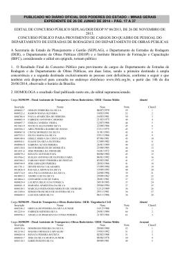 EDITAL DE CONCURSO PÚBLICO SEPLAG/DER/DEOP Nº