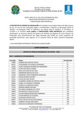 Portador de Diplomas UFMS 2014 - Verão - Copeve