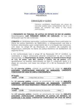 Poder Judiciário do Estado do Rio de Janeiro PRESIDÊNCIA