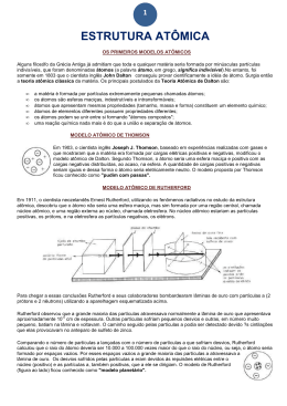 atomistica - resumo e exercícios