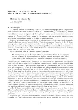 Roteiro de estudos IV - Instituto de Física