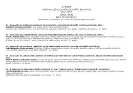 E-PÔSTER ARRITMIA CLÍNICA E MÉTODOS NÃO INVASIVOS 05