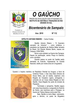 HIPÓLITO ANTONIO RIBEIRO - Academia de História Militar