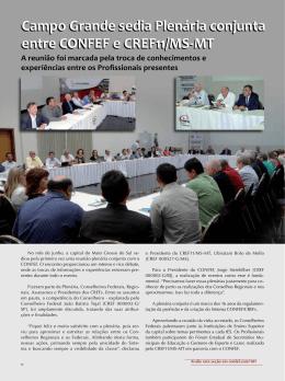 Campo Grande sedia Plenária conjunta entre CONFEF e CREF11