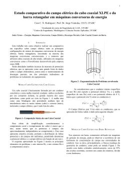 Estudo comparativo do campo elétrico do cabo coaxial XLPE