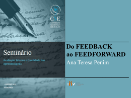 Do feedback avaliativo ao feedforward educativo